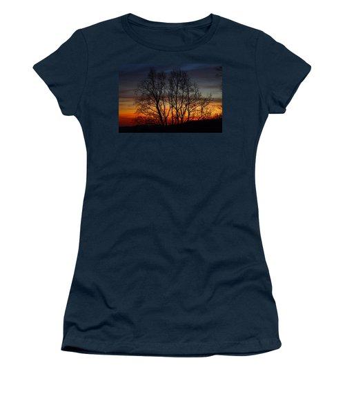 Women's T-Shirt (Junior Cut) featuring the photograph Mountain Sunset by Kathryn Meyer