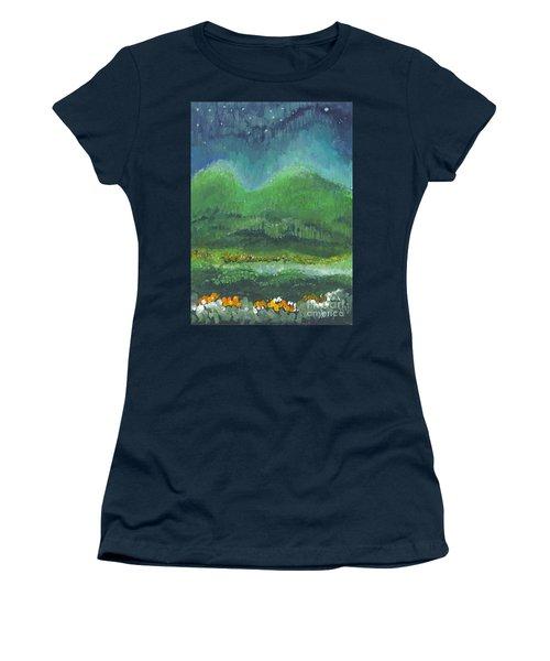 Mountains At Night Women's T-Shirt