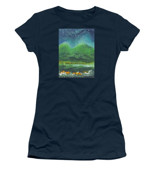 Mountains At Night Women's T-Shirt