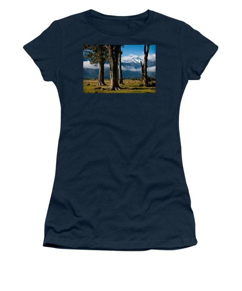 Mt Cook Through Trees Women's T-Shirt