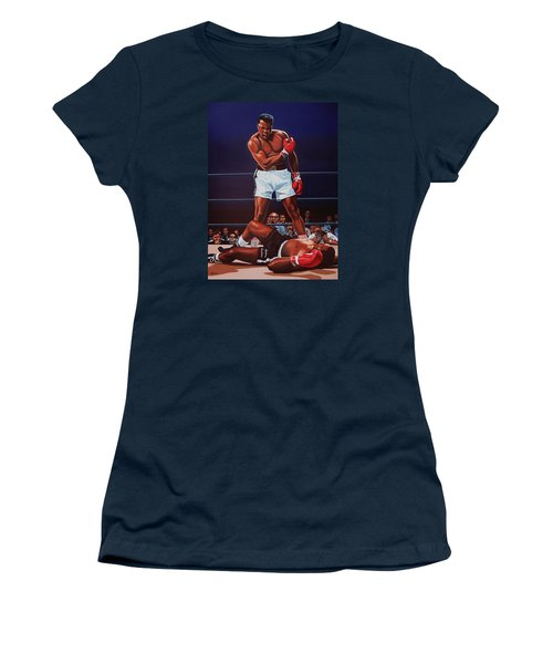 Muhammad Ali Versus Sonny Liston Women's T-Shirt (Junior Cut) by Paul Meijering