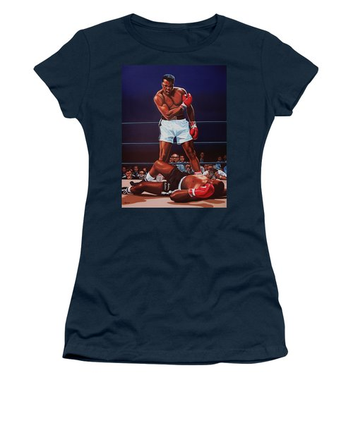 Muhammad Ali Versus Sonny Liston Women's T-Shirt