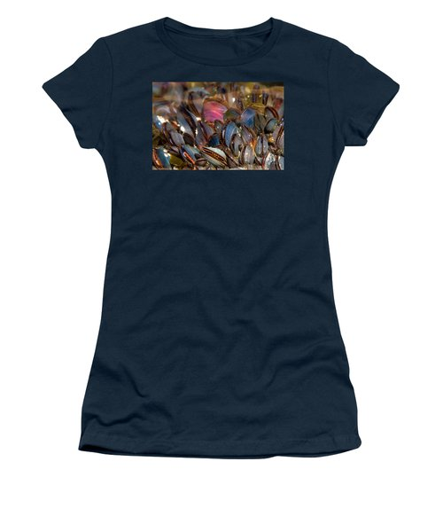 Mussels Underwater Women's T-Shirt (Junior Cut) by Peggy Collins