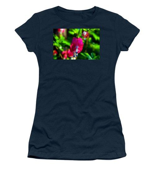 Women's T-Shirt (Junior Cut) featuring the photograph My Bleeding Heart by Peggy Franz