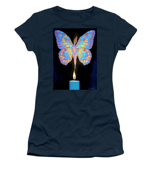 Naked Butterfly Lady Transformation Women's T-Shirt