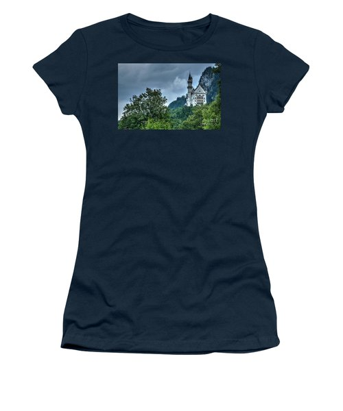 Women's T-Shirt (Junior Cut) featuring the photograph Neuschwanstein Castle by Joe  Ng