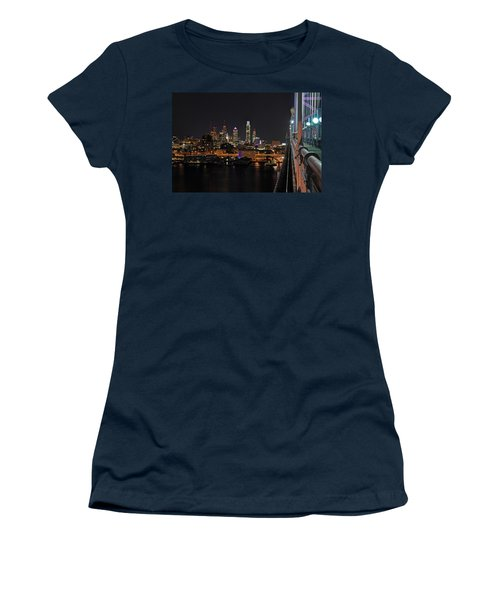 Nighttime Philly From The Ben Franklin Women's T-Shirt