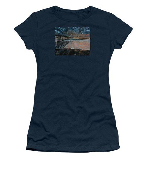 North Side Of The Ventura Pier Women's T-Shirt (Junior Cut) by Ian Donley