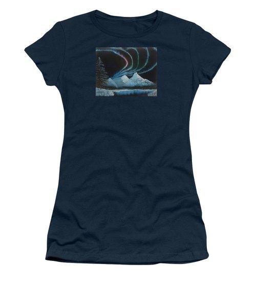 Northern Lights Women's T-Shirt (Junior Cut) by Ian Donley
