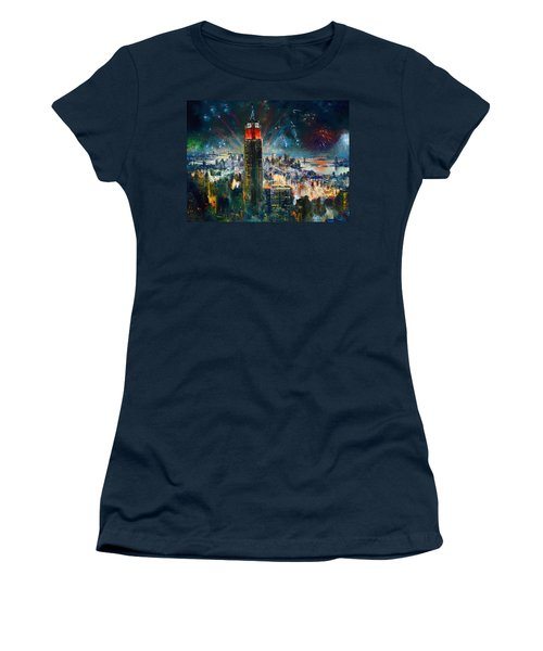 Nyc In Fourth Of July Independence Day Women's T-Shirt (Athletic Fit)