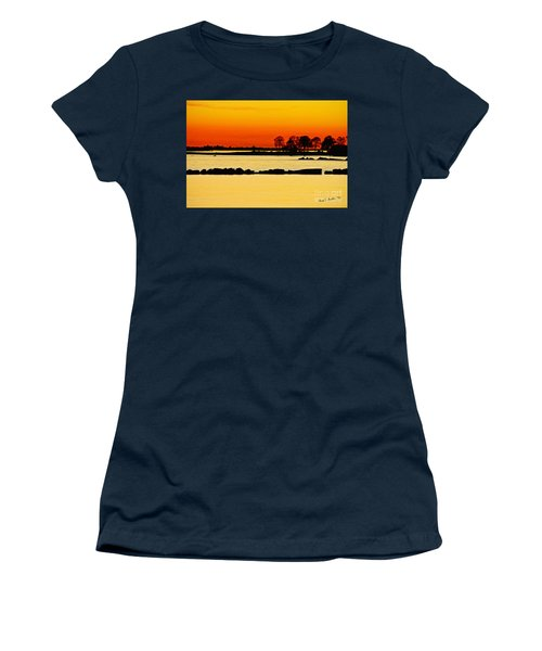 Orange Sunset Women's T-Shirt (Junior Cut) by Carol F Austin