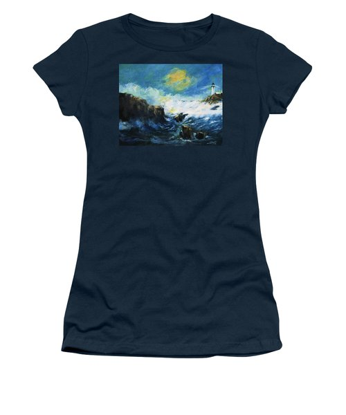 Off Shore Breakers At Dusk Women's T-Shirt (Athletic Fit)