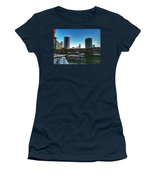 Ohio Street Bridge Over Chicago River Women's T-Shirt (Athletic Fit)
