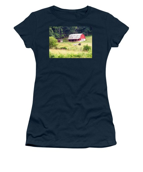 Old Red Barn West Of Brevard Nc Women's T-Shirt