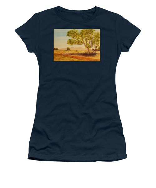 On The Road To Broken Hill Nsw Australia Women's T-Shirt (Junior Cut) by Tim Mullaney