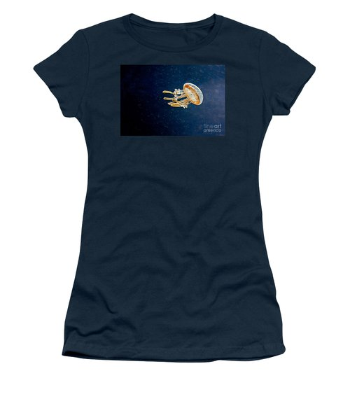One Jelly Fish Art Prints Women's T-Shirt (Junior Cut) by Valerie Garner