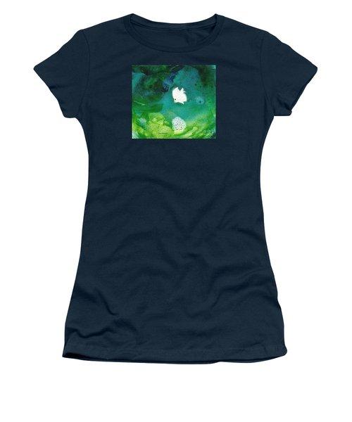 One White Women's T-Shirt (Junior Cut) by Joan Hartenstein