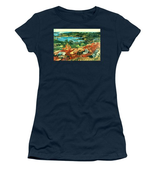 Overlooking The Bay Women's T-Shirt (Junior Cut) by Robin Birrell