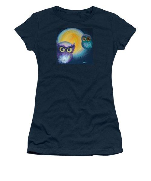 Owl Be Watching You Women's T-Shirt (Junior Cut) by Agata Lindquist