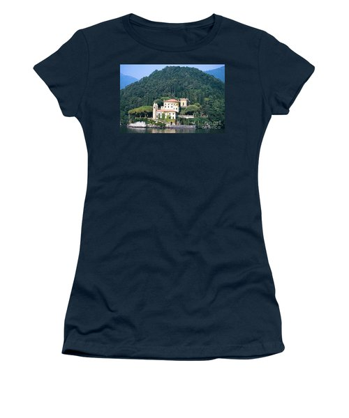 Women's T-Shirt (Junior Cut) featuring the photograph Palace At Lake Como Italy by Greta Corens