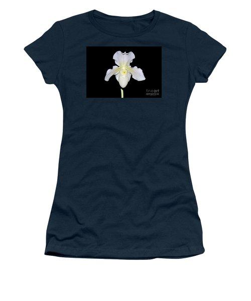 Paphiopedilum Orchid F.c. Puddle Superbum  Women's T-Shirt (Junior Cut) by Susan Wiedmann