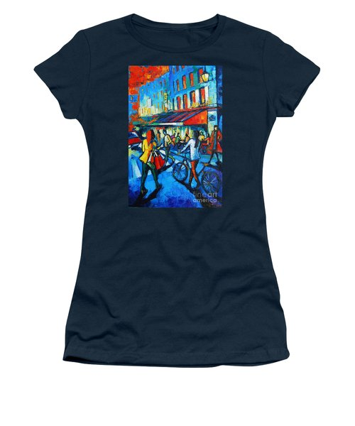 Parisian Cafe Women's T-Shirt (Athletic Fit)