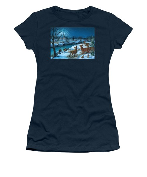 Peaceful Winters Night Women's T-Shirt (Athletic Fit)