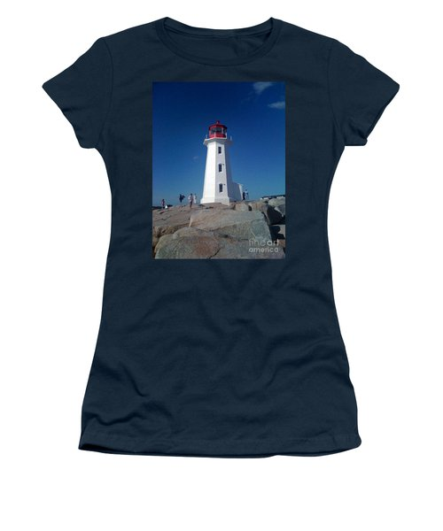 Peggy's Cove Lighthouse Women's T-Shirt (Junior Cut) by Brenda Brown