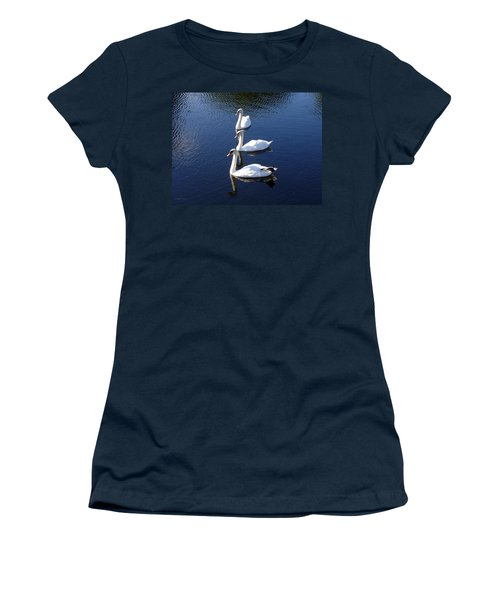 Women's T-Shirt (Junior Cut) featuring the photograph Perfect Family Gathering by Lingfai Leung