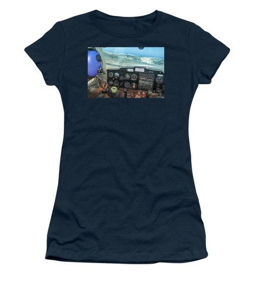 Pilot In Cessna Cockpit Women's T-Shirt