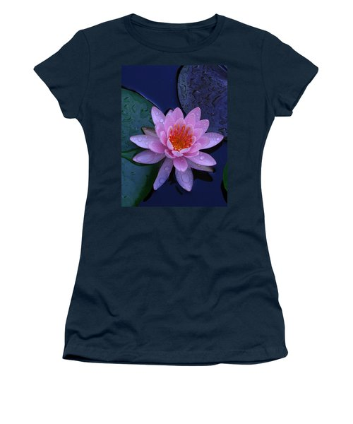 Women's T-Shirt (Junior Cut) featuring the photograph Pink Waterlily by Raymond Salani III