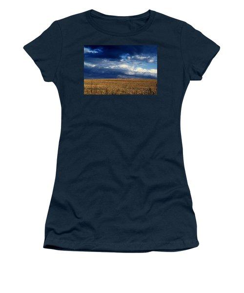 Women's T-Shirt (Junior Cut) featuring the photograph Plain Sky by Rodney Lee Williams