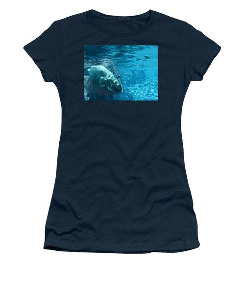 Polar Bear Women's T-Shirt (Junior Cut) by Steve Karol
