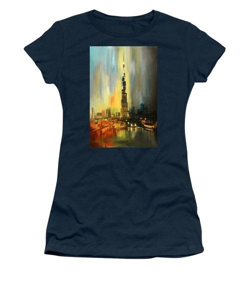 Portrait Of Burj Khalifa Women's T-Shirt (Athletic Fit)