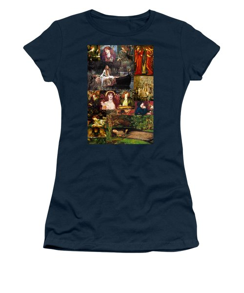 Pre Raphaelite Collage Women's T-Shirt