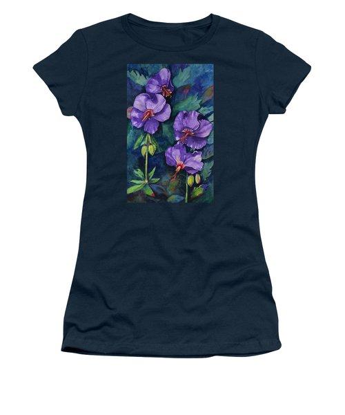 Purple Hibiscus Women's T-Shirt
