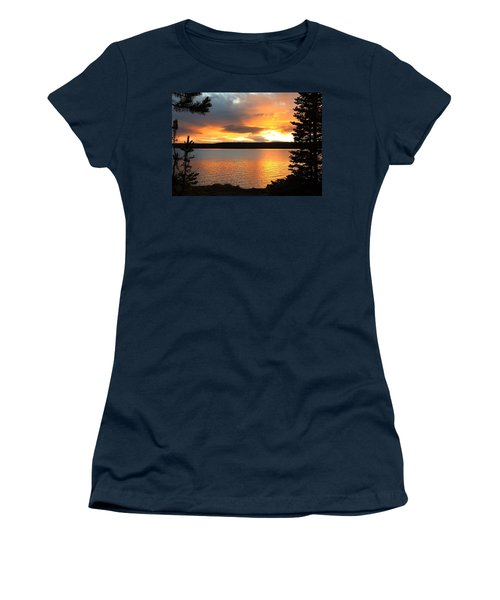 Reflections Of Sunset Women's T-Shirt (Junior Cut) by Athena Mckinzie