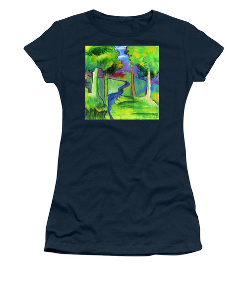 Rendezvous Triptych Women's T-Shirt (Junior Cut) by Elizabeth Fontaine-Barr