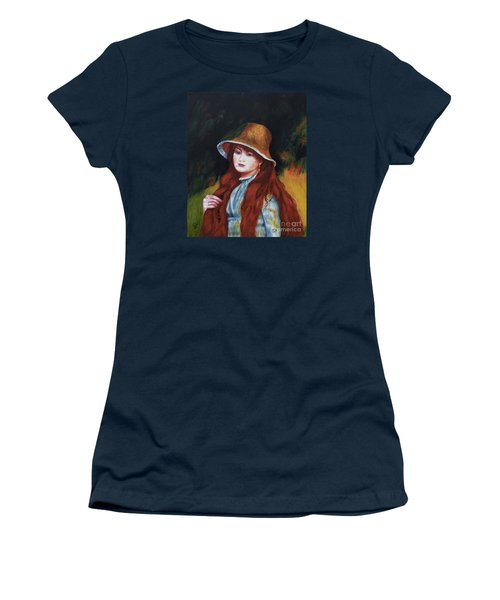 Renoir-young Girl In A Straw Hat Women's T-Shirt