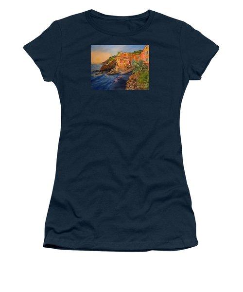Riomaggiore Amore Women's T-Shirt (Junior Cut) by Julie Brugh Riffey