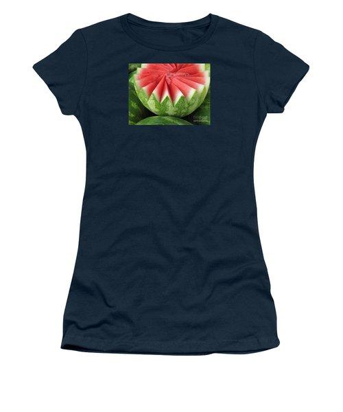 Ripe Watermelon Women's T-Shirt (Junior Cut) by Ann Horn