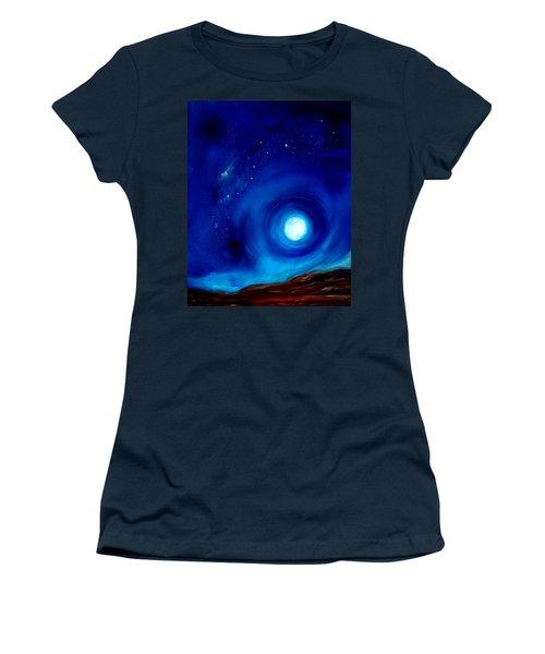 Rising Desert Moon Women's T-Shirt (Athletic Fit)