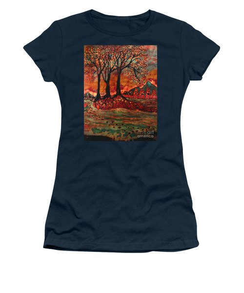 River Sunrise - Lothlorien Women's T-Shirt (Athletic Fit)