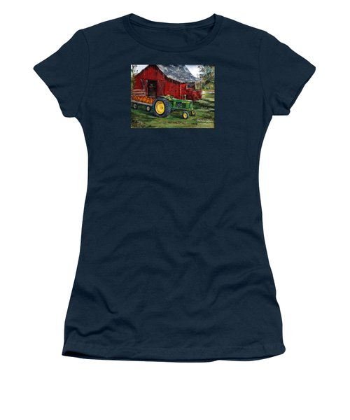 Rob Smith's Tractor Women's T-Shirt (Junior Cut) by Lee Piper