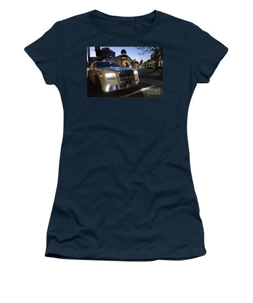 Rolls Royce Parked At The Bottom Of Rodeo Drive Women's T-Shirt (Junior Cut) by Nina Prommer