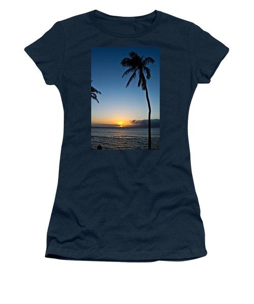 Romantic Maui Sunset Women's T-Shirt (Athletic Fit)