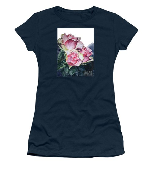 Pink Rose Michelangelo Women's T-Shirt (Athletic Fit)