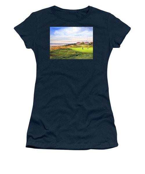 Royal Liverpool Golf Course Hoylake Women's T-Shirt (Junior Cut) by Bill Holkham