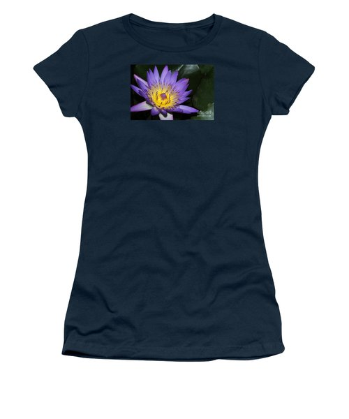 Royal Purple Water Lily #6 Women's T-Shirt (Athletic Fit)