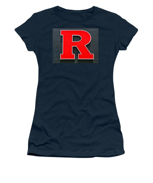 Rutgers Block R Women's T-Shirt (Junior Cut) by Allen Beatty